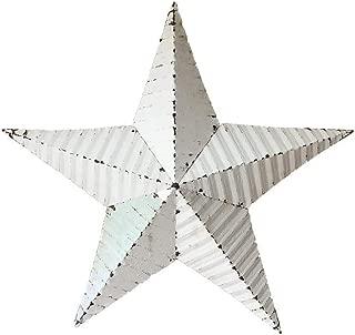 "product image for 18"" Tin Rustic Barn Star Garden Decor - White"