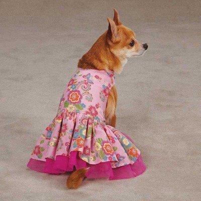 Zack & Zoey UM298 06 75 Spring Garden Dress for Dogs, Begonia Pink (Begonia Dresses)