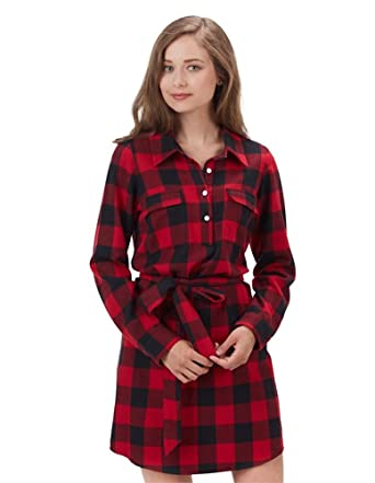02fd63832e9 Mud Pie Red   Black Buffalo Check Belted Dress (Small) at Amazon ...