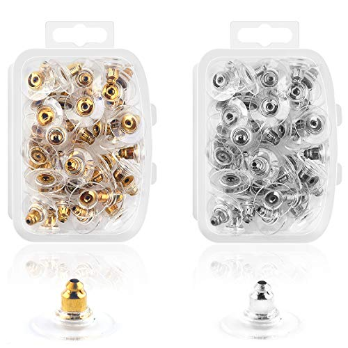 - Ear Backs Supplies - Plat Ear Backs Safety Clutch Earring Stopper Replacements for Ear Hook Ear Post Studs Pierced Earrings.