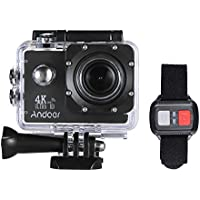Action Camera, Andoer Action Sports AN4000 4K 30fps 16MP WiFi Camera Full HD 4X Zoom 40m Waterproof 170° Wide Angle Lens 2 LCD Screen Support Slow Motion Drama Photography Remote Control
