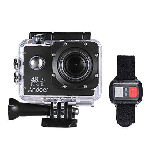 Andoer AN4000 WiFi Action Sports Camera 4K 16MP 2 inch Touchscreen 170° Wide Angle Lens with Remote Control and Waterproof Hard Case Support Slow Motion Drama Photography