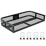 Black Widow ATVRB-3922 ATV Rear Rack-Mounted Steel Mesh Surface Cargo Storage Basket