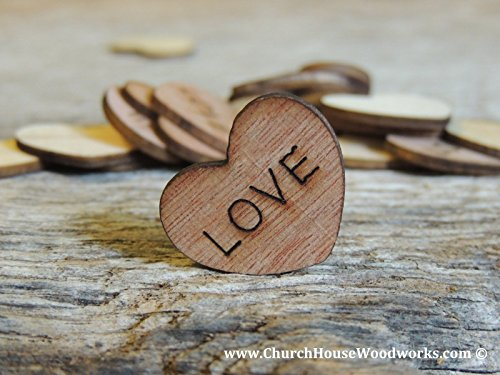 (Wooden Heart Confetti ~ Love ~ Best Day Ever ~ Once upone a time ~ We Do ~ It's a Girl ~ It's a Boy ~ Blank ~ Wood Hearts,)