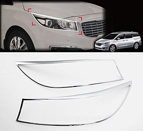 Sell by Automotiveapple, C861 AUTOCLOVER Chrome Head Lamp Garnish Molding Trim 2-pc Set For 2015 Kia Sedona : All New Carnival