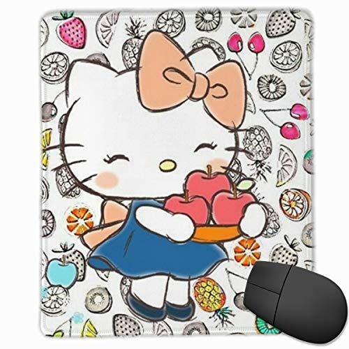 Hello Kitty with Fruits Mouse Pad, Non-Slip Rubber Base Gaming Mouse Pad with Locking Edge- 9.8