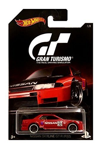R32 Skyline (Hot Wheels 2016 Gran Turismo Nissan Skyline GT-R (R32) 1/8, Red)