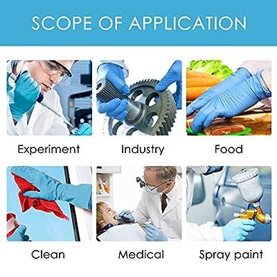 Nitrile Exam Gloves,10Pcs/ 20Pcs/ 40Pcs/ 50 Pcs - Safety, Powder Free, Latex Free for Cleaning, Food Handling (Blue): Clothing