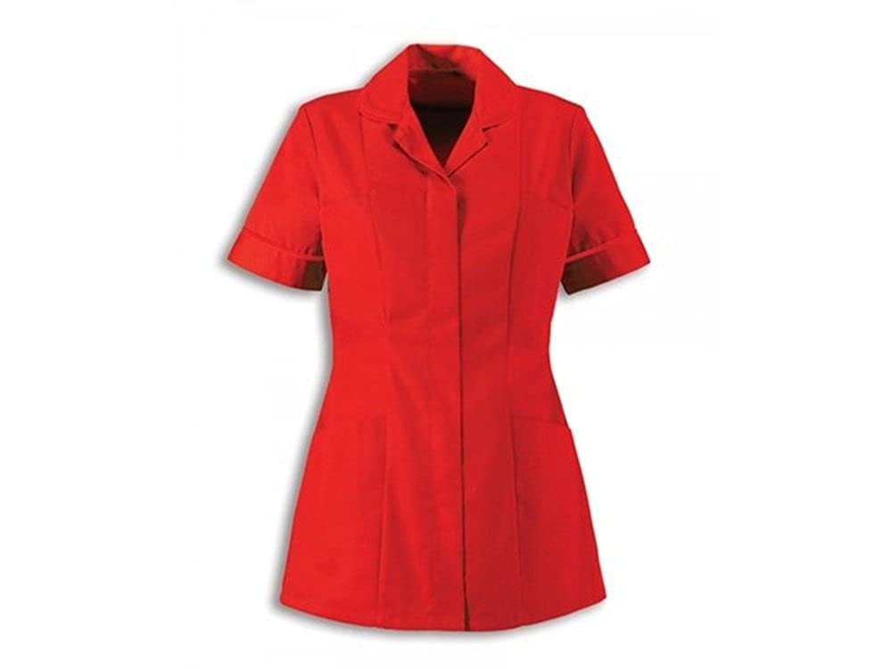Alexandra Traditional Ladies Women Nursing Tunics NHS Health Medical Care (18, Red/Red)