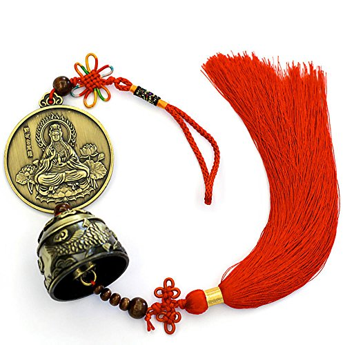 ZeeStar Fengshui Coin - Chinese Feng Shui Bell for Wealth and Safe, Pendant Coins for Success - Home Decoration - Guanyin