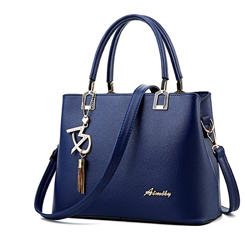Shopping AVERIL main Bleu Faux bleu épaule cuir Sac femme ciel Sac bandoulière femme Sac Sac portés G à AawtFqdA