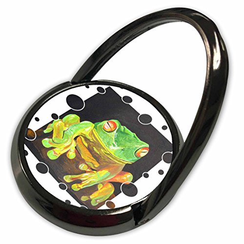 Tree Frog Ring - 3dRose Taiche Acrylic Art - Animal Tree Frog - Phone Ring (phr_28169_1)