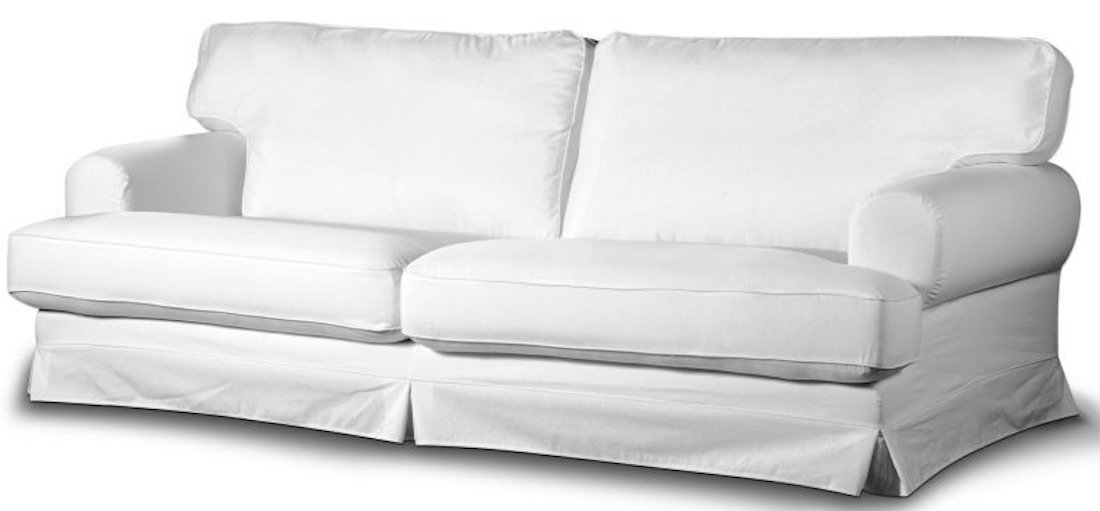 Cotton Ekeskog Sofa Cover Replacement, Custom Made for IKEA Ekeskog 3 Seater Sofa Slipcover Only (White)