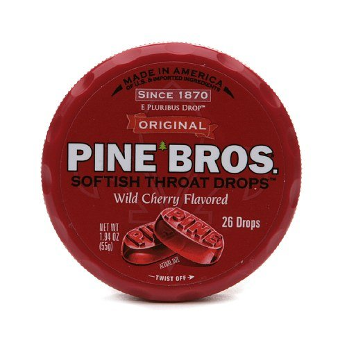Pine Bros. Original Softish Throat Drops, Wild Cherry 26 ea (Pack of 6)