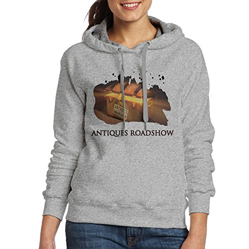 FUOCGH Women's Pullover Antiques Roadshow Hoodie Sweatshirts Ash XL