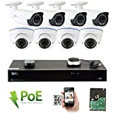 GW Security 8CH 5 Megapixel 1920P Video Home Security Camera...