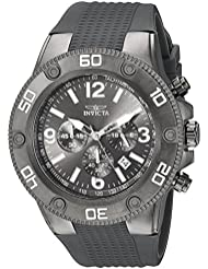 Invicta Mens Pro Diver Quartz Stainless Steel and Silicone Casual Watch, Color:Black (Model: 20273)