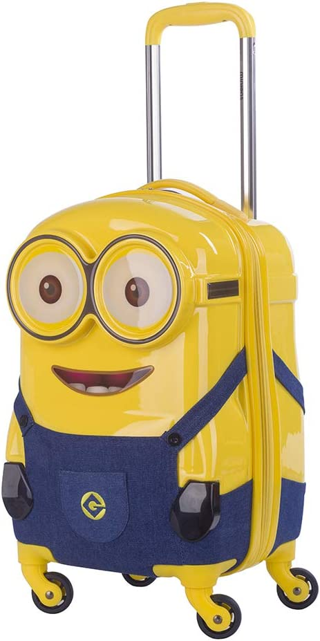 blue jean suspender 16 Despicable Me Minions 3D ABS Luggage Trolley Spinner Carryon Suitcase Travel Bag