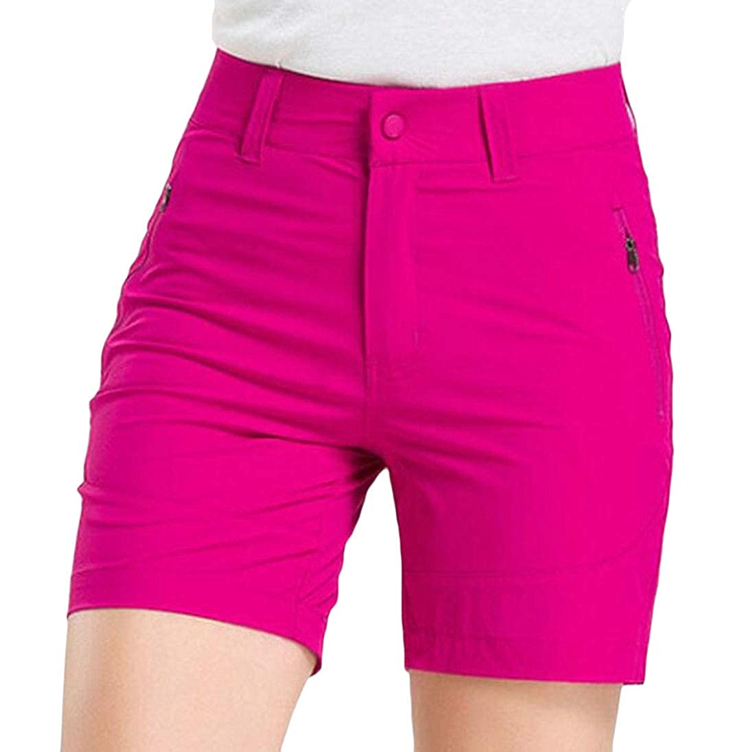 Hajotrawa Womens Summer Shorts Fast Dry Sport Outdoor High Waist Shorts