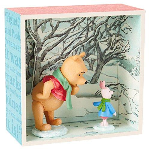 Hallmark Winnie the Pooh and Piglet in Snow Shadow Box by Hallmark
