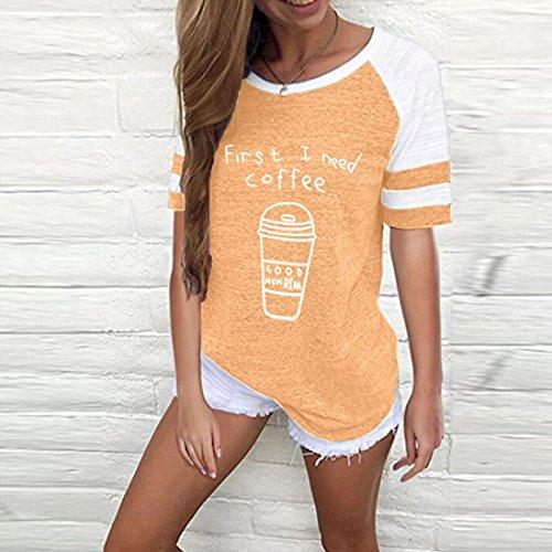 Manches T S Printemps Mode Chemisiers Femme Orange XXL Chat courte Shirts Confortable Couleurs Cinq Blouses Sweatshirts SHOBDW Automne 2018 Mignon Mode Tops Femme t Courte Nouvelle IqAvEB7