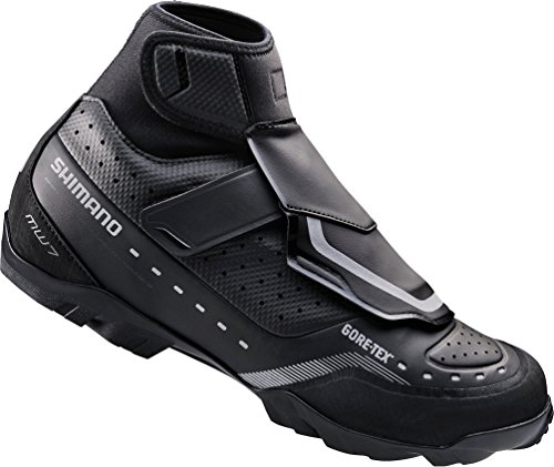 Shimano 2016 Men's Premium Off-Road Cold/Wet Weather Mountain Bike Shoes - SH-MW7 (Black - 45.0) Size 45 M EU / 10.5 D(M) US