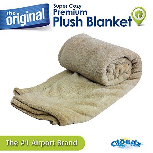 Cloudz Super Cozy Premium Plush Travel Blanket - ()