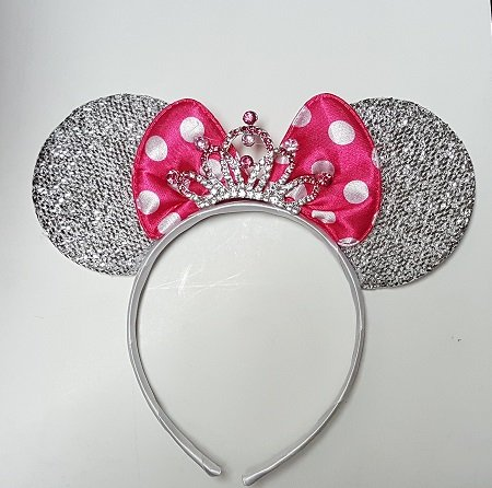 Inspired Minnie Mouse Ears with Beautiful a Rhinestone (Diy Minnie Ears)