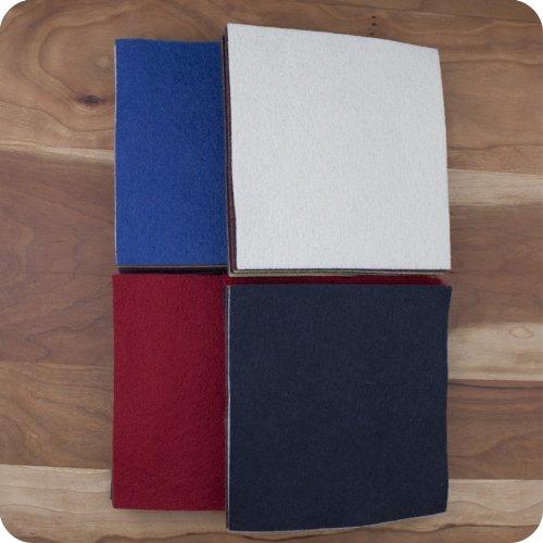 30 5 Squares 100/% Wool Felt Americana Colors Charm Pack
