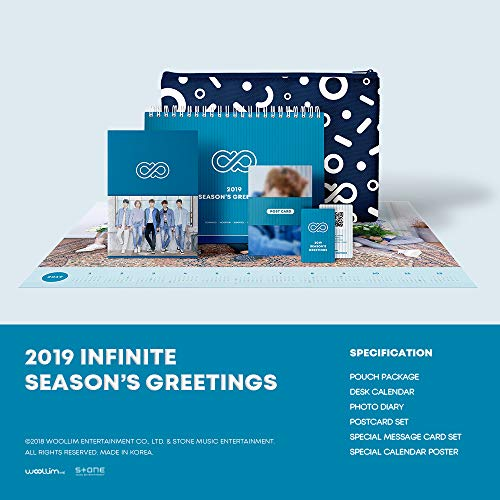 Woolim Entertainment Infinite - 2019 Infinite Season'S Greetings Desk Calendar+Diary+Postcards+Message Cards+Folded Calendar Poster