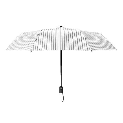 FONK Paraguas Paraguas Automático Mujer Lluvia Hombres Duales Paraguas Paraguas Plegable Automático Paraguas UV Paraguas De