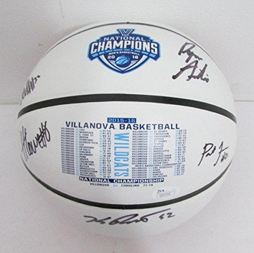 Team Signed Basketball (2016 Villanova NCAA Champs FINAL FOUR Basketball Signed FIVE Seniors TEAM JSA 131031)