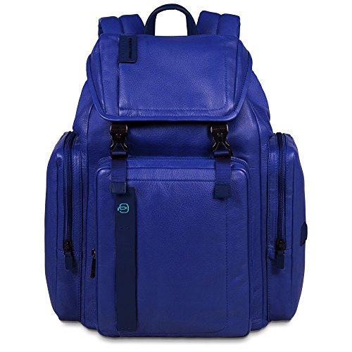 Piquadro Mochila Gris Única Azul