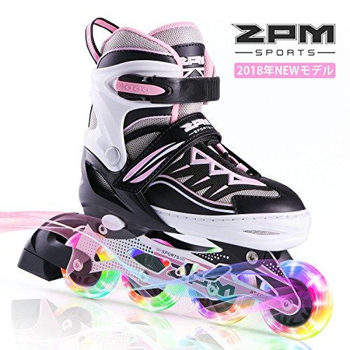 故国意義帰るインラインスケート 子ども キッズ ローラースケート ジュニア 女の子 初心者 向け Inline skate サイズ調整可能 ピンク