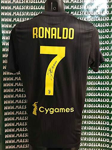 "64a0b15ed JUVE Maglia Gara Third ""Ronaldo 7"" Autografata F.C. Juventus 2018/ 2019"