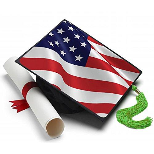 Tassel Toppers American Flag Grad Cap Decorated Grad Caps