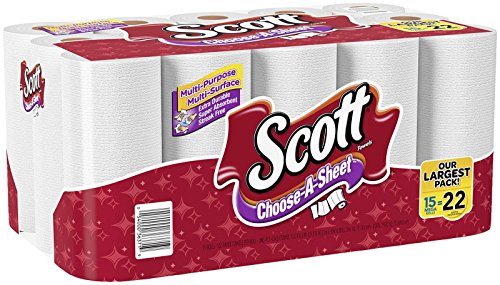 Price comparison product image Scott Paper Towels,  Choose-a-Sheet,  Mega Roll,  15 Count