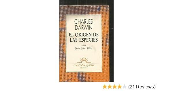 El origen de las especies: CHARLES DARWIN: 9788423918164: Amazon.com: Books
