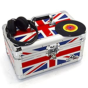 Gorilla Singles Vinyl Record Carry Case Storage Box Tough Strong Holds 200pcs Union Jack inc Lifetime Warranty