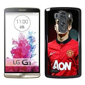 New Unique Custom Designed Case With Manchester United Adnan Januzaj Black For LG G3 Phone Case