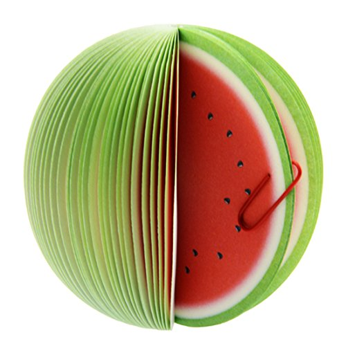 Cute Fruit Desk Paper Note Pads , Memo Pad , Notepad, Paper Notes , Red Apple / Green Apple / Lemon / Peach / Pomegranate / Orange / Green Pear / Watermelon /Strawberry / Kiwi Style;150 Pages (Watermelon)
