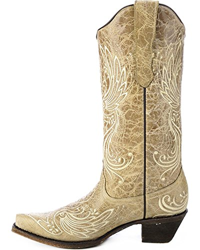 Corral Womens Hela Broderad Cowgirl Boot Klipp Tå - E1035 Ben