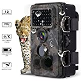 Powerextra 12MP 1080P HD Hunting Trail Game Camera, 120¡ã Wide Angle, 3 Zone No Glow IR Infrared Night Vision With 42pcs 940nm LED, 2.4 inch LCD Screen, IP66 Spray Waterproof Wildlife Monitoring Camera
