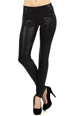 Modern Kiwi Slim Fit Liquid Matte Pocket Leggings at Amazon ...