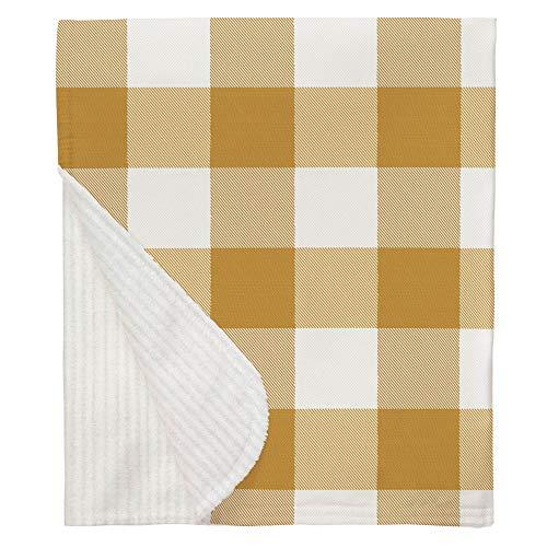 Carousel Designs Mustard Buffalo Check Mini Crib Blanket