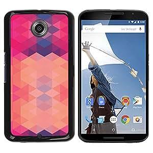 FlareStar Colour Printing Polygon Pink Purple Pattern Abstract cáscara Funda Case Caso de plástico para Motorola NEXUS 6 / Moto X / Moto X Pro