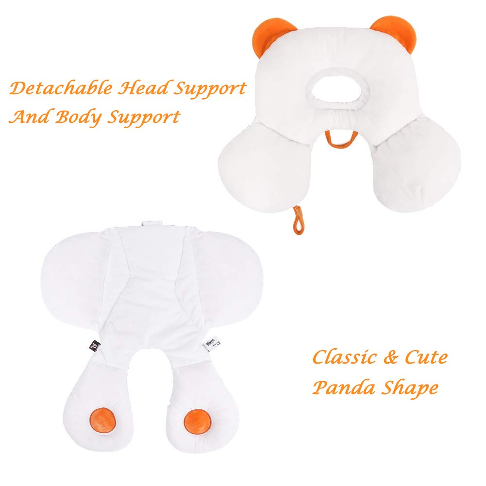 Baby Full Body Support for Head and Neck Relief Car Seat Protection Pillow with Organce Cotton 2-In-1 Reversible