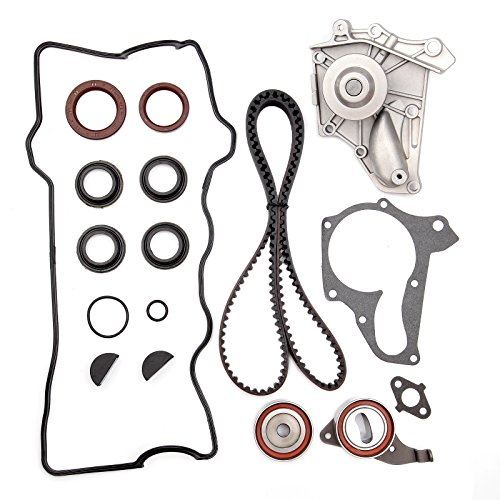 01 Water Pump Cover (Timing Belt Kit Water Pump Valve Cover Gasket Set, ECCPP for 1992 - 2001 Toyota Camry 2.2 DOHC Eng. Code 3SFE 5SFE)
