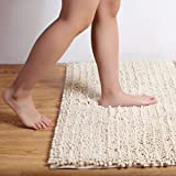CHHKON TPR Microfiber Bath Rugs 20''x32'',High Density Washable Non-slip Bath Mats - Super Soft Bathroom Mats, 2000GSM