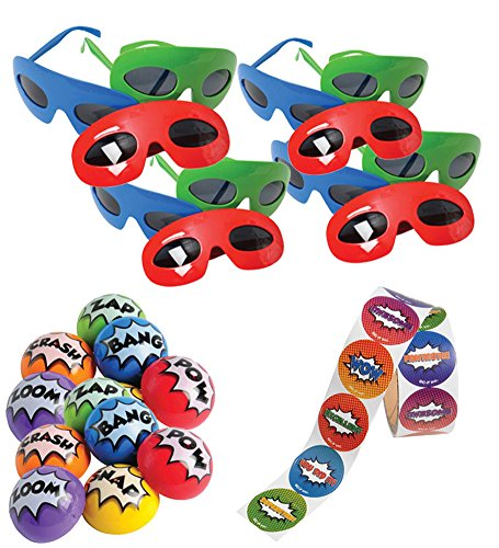 Superhero Party Bundle Stickers Poppers product image